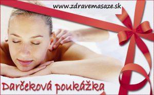 Darčeková poukážka na masáž